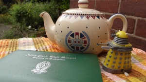 Diploma...teapot...Dalek: yep, I'm set for the day.