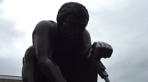 """""""Newton"""" - a statue in the grounds of the British Library, and styled after the art of the poet and engraver William Blake"""