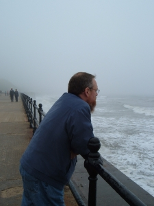Looking out at the North Sea at Scarborough