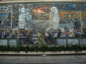 One of the Diego Rivera murals at the DIA