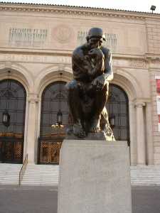 "The copy of Rodin's ""The Thinker"", outside the DIA"