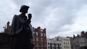 Conan Doyle's Sherlock Holmes contemplates London.