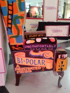 Make yourselves comfy in the bipolar chair.