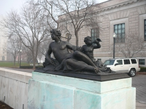 Not the Fischer: taken outside another bit of Michigan grandeur, the Detroit Institute of Arts (DIA)