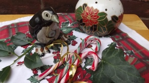 This penguin is festive. The one in the story is just a smart mouth.