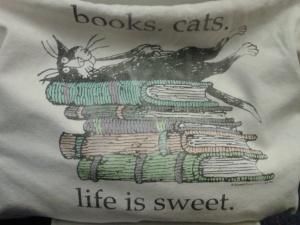 Happiness is ... books. writing. beasties.
