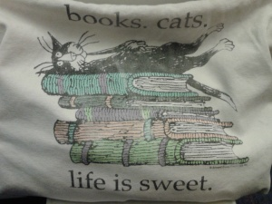 Happiness is ... books. writing. beasties.