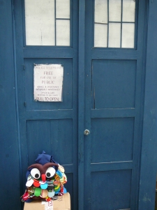 "The Doctor is ""in"". Owl Bag is out."