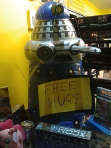 I hugged several volunteers. Not this chap. Daleks aren't big on volunteering.