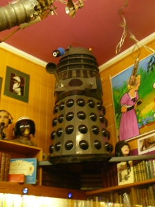 The Dalek of Cecil Court, London. Notoriously shy, but not very good at hiding.