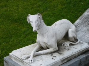 Greyhound (?) statue, Broadsworth Hall