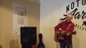 Mick Jenkinson in full musical flow: the Notorious Aardvark, Yule 2014