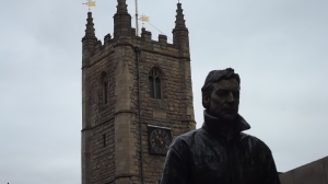 Statue and church: Newcastle, February 2015