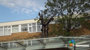 "Dancing on the rooftops: ""The Lovers"", Waterdale, Doncaster"