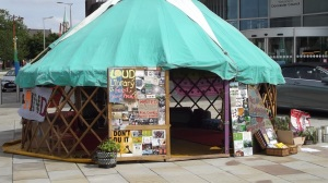 """This is Not Normally Here: Yurt by the """"Pixies"""", Donny Pride, 2015"""
