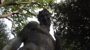 Statue of Pan: Chatsworth gardens, Sept 2015