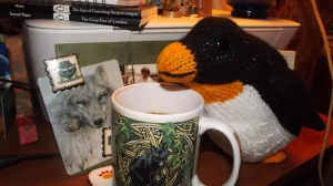 Oi, penguin! That's my mug!