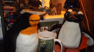Even knitted penguins need friends.