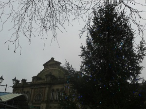Christmas tree with Corn Exchange, Doncaster, Jan 2016