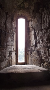 Window, Conisbrough Castle, S Yorkshire.