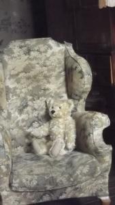 A chair with a bear: Castle Howard, 2015