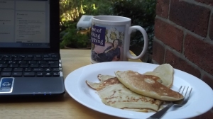Time and tide and buttered pancakes wait for no (wo)man.