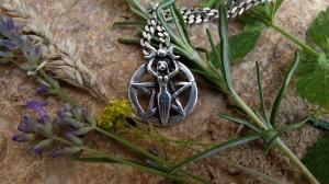 Silver chain amongst summer flowers