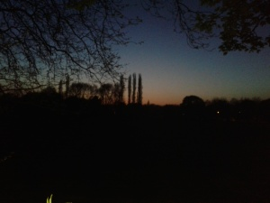 Twilight over Doncaster