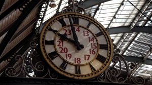 Time to go home: St Pancras Station