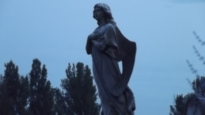 Twilight angel: Hyde Park Cemetery, 2015